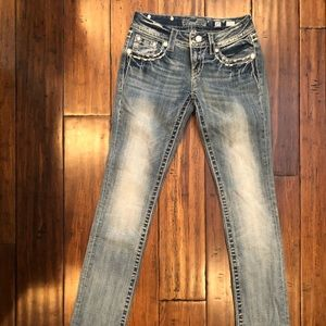 Never worn! Miss me size 25 straight jeans
